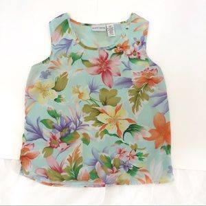Jaclyn Smith floral tank blouse size small